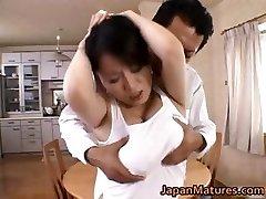 Miki Sato real asian mum has orgy part5