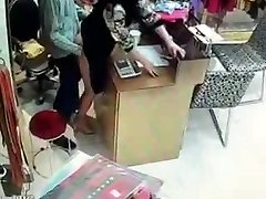 Asian owner have fuckfest during service hours
