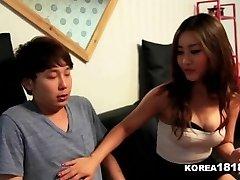KOREA1818.COM - Lucky Virgin Pounds Hot Korean Babe!