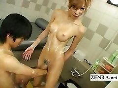 Japanese newhalf she-male soapland with kinky sixtynine