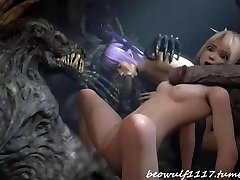 3D Demon fuck remix: Cradit Beowolf1117