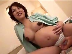 pregnant Japan lady still gets fuck part 2