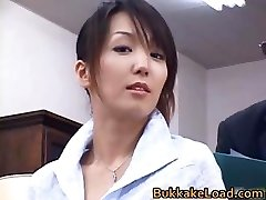 Cool real japanese Shiho getting jizz part3