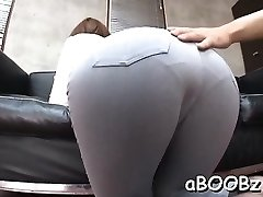 Japan maid with big titties gets manmeat in all her wet fuck holes