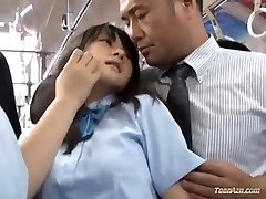School girl romped in bus