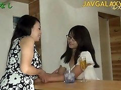 Mature Japanese Bitch and Youthful Teen Girl