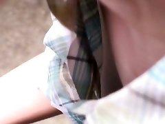 Adorable asian woman gets filmed by voyeurs