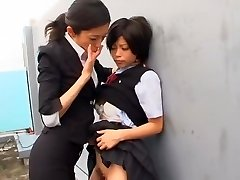 Hottest Japanese whore Kurumi Katase in Exotic College, Fingering JAV vid