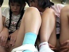Summer Schoolgirls With Tan Trace