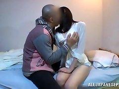 Mira Tamana Asian sweetie enjoys warm position 69
