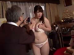 Horny Japanese whore Chitose Saegusa in Mischievous public, striptease JAV movie