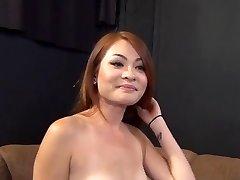 Ryšavka Asian Babe Má Veľký Fuct Konkurz 420