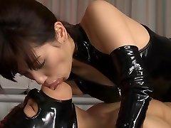 Horny Japonský coura Miyuki Yokoyama v Najlepších fetish, latex JAVA-scény
