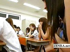 Bare in school Japan nudist schoolgirl oral sex party