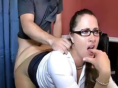 Stepson Rips Her Pantyhose And Takes Her Pussy Hard