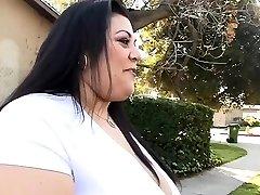 Plus-size enjoys his boner inside of her