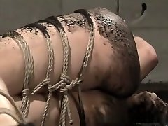 Japanese honnie at the mercy of her restrain bondage tormentor