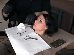 Real hoe London River gets her pussy punished by one insane dude