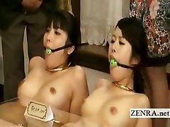 Bizarre weird bondage assfucking butt buttplug Japan furniture