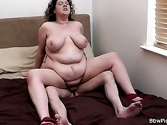 Chubby young girl with cute curly hair picked up outdoors and banged raw
