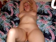 Naked BBW sucking cock and getting fucked