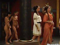 Mistress Orders Big Orgy For Lesbian Girls