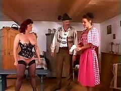 Mature redheaded slave lady fisted hard in gash