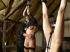 Women getting disciplined on slave farm Domination & Submission