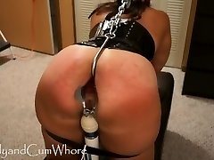 Cum Super-bitch is flogged, fisted, gaped and ass fucked