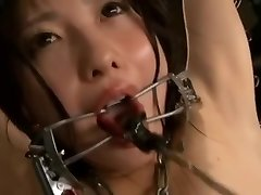 Female spy violent torture room electric shock, dripping wax part2