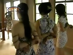 Chinese Girls Playing Football In Bondage