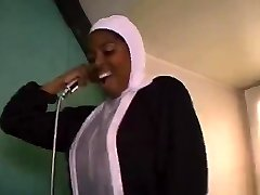 African French nun sucking and tearing up enormous black cocks