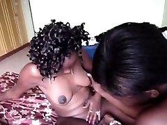 Super-fucking-hot ass African chick eats a hot black friends vag. That