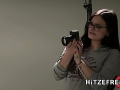 HITZEFREI Huge-titted German slut loves big dark-hued cock
