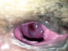 Gaping Black Pussy - Amateur Closeup