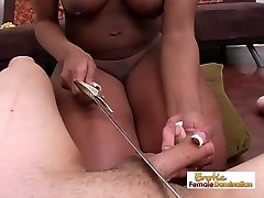 Domineering Black Girl Tormenting A Guys Cock