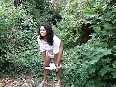 Demonstrating ebony milf Mels black public nakedness and outdoor upskirts adventure