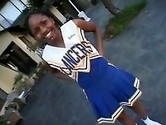 Dark-hued cheerleader Promise