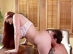 steaming busty secretary getting fucked in the office by her boss