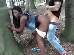Ebony Wife Fucked Outdoor By White Manhood Cuckold Film