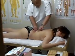 Medical voyeur massage movie starring a plump Asian wearing black panties