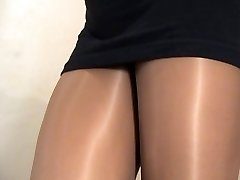 crossdresser pantyhose black