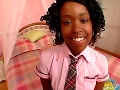 Cute Dark-hued Schoolgirl Fuck Diamond