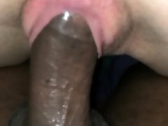 Watch her rail a Ginormous Black Dick