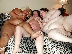 Three Chubby wives spreading
