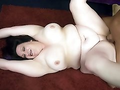 BBW Matalla on her knees and spreading her enormous butt to let a hunk enter her pussy from...
