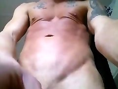 Light-haired boy jerk off and eat his own cum.