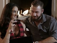 Puerto Rican nympho Sheena Ryder gets drilled doggy by her bearded boy