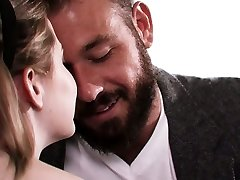 Captivating seductress Britney Light is nailed by bearded boyfriend