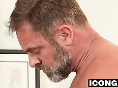 Horny stepdad Kristofer Weston takes sonny Dannys big cock